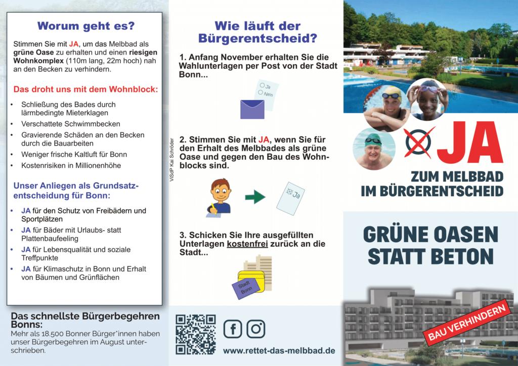 """""""JA im Bürgerentscheid"""" weiterempfehlen"""